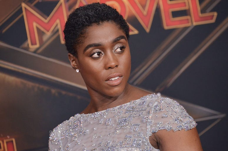 """Lashana Lynch arrives at the Marvel Studios """"Captain Marvel"""" Los Angeles Premiere held at the El Capitan Theatre in Hollywood, CA on Monday, March 4, 2019. (Photo By Sthanlee B. Mirador/Sipa USA)"""
