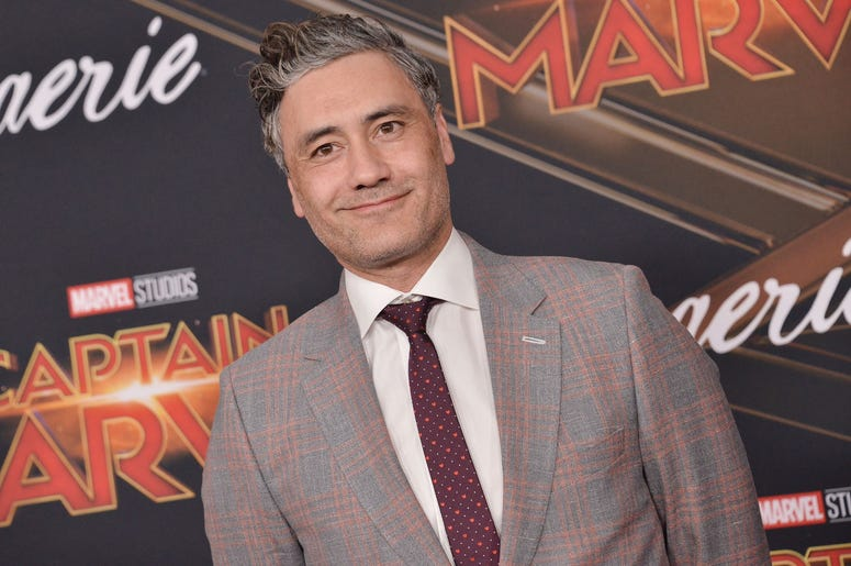 """Taika Waititi arrives at the Marvel Studios """"Captain Marvel"""" Los Angeles Premiere held at the El Capitan Theatre in Hollywood, CA on Monday, March 4, 2019. (Photo By Sthanlee B. Mirador/Sipa USA)"""