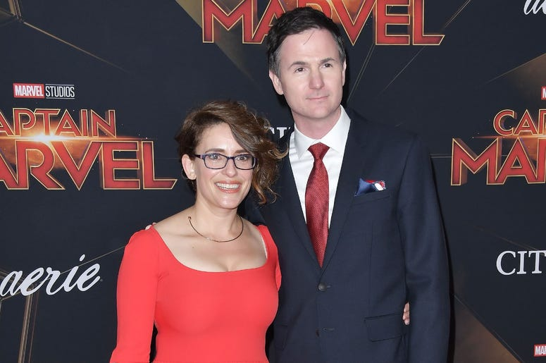 """(L-R) Anna Boden and Ryan Fleck at the Marvel Studios """"Captain Marvel"""" Los Angeles Premiere held at the El Capitan Theatre in Hollywood, CA on Monday, March 4, 2019. (Photo By Sthanlee B. Mirador/Sipa USA)"""