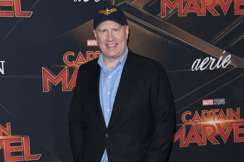 """Kevin Feige arrives at the Marvel Studios """"Captain Marvel"""" Los Angeles Premiere held at the El Capitan Theatre in Hollywood, CA on Monday, March 4, 2019. (Photo By Sthanlee B. Mirador/Sipa USA)"""