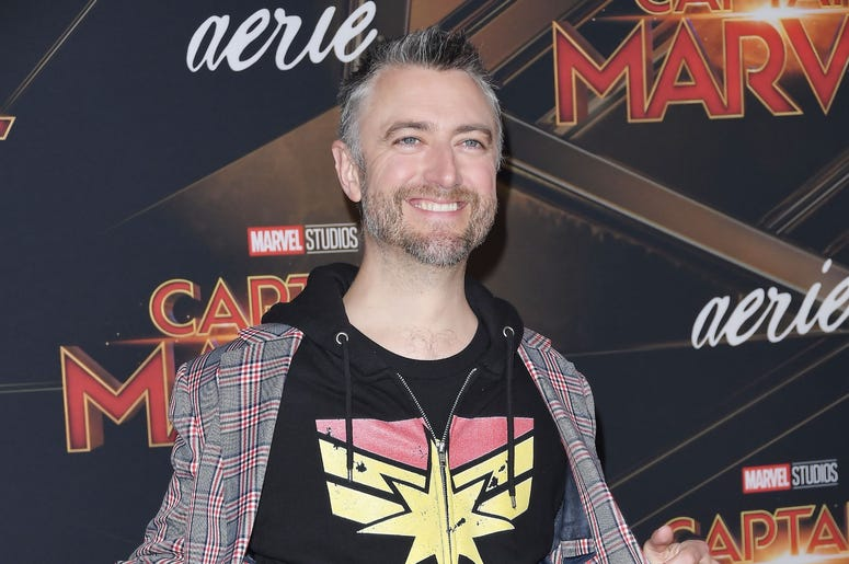 """Sean Gunn at the Marvel Studios """"Captain Marvel"""" Los Angeles Premiere held at the El Capitan Theatre in Hollywood, CA on Monday, March 4, 2019. (Photo By Sthanlee B. Mirador/Sipa USA)"""
