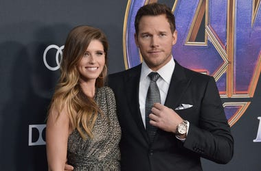 "(L-R) Katherine Schwarzenegger and Chris Pratt at Marvel Studios' ""Avengers: Endgame"" World Premiere held at the Los Angeles Convention Center in Los Angeles, CA on Monday, April 22, 2019. (Photo By Sthanlee B. Mirador/Sipa USA)"