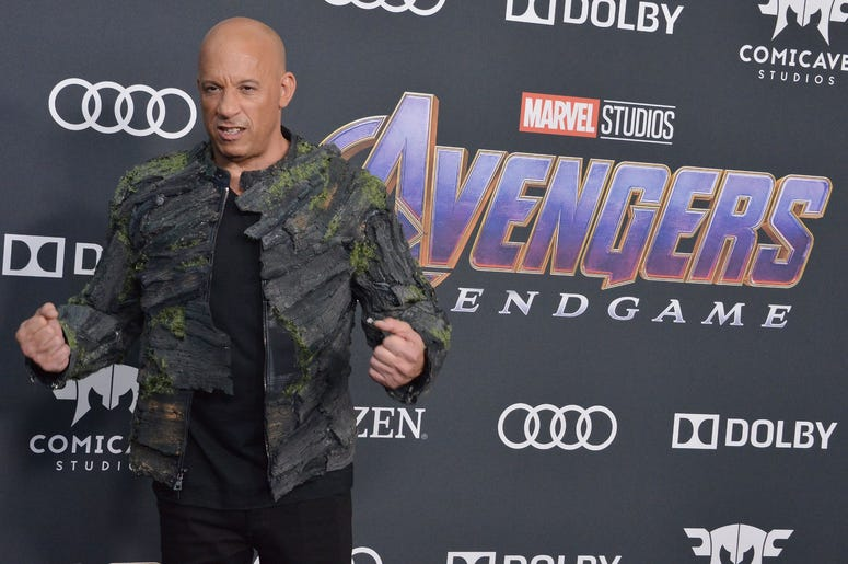 "Vin Diesel arrives at Marvel Studios' ""Avengers: Endgame"" World Premiere held at the Los Angeles Convention Center in Los Angeles, CA on Monday, April 22, 2019. (Photo By Sthanlee B. Mirador/Sipa USA)"