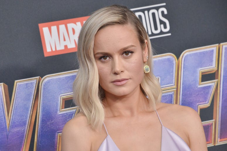 "Brie Larson arrives at Marvel Studios' ""Avengers: Endgame"" World Premiere held at the Los Angeles Convention Center in Los Angeles, CA on Monday, April 22, 2019. (Photo By Sthanlee B. Mirador/Sipa USA)"
