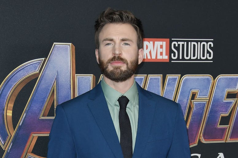 "Chris Evans arrives at Marvel Studios' ""Avengers: Endgame"" World Premiere held at the Los Angeles Convention Center in Los Angeles, CA on Monday, April 22, 2019. (Photo By Sthanlee B. Mirador/Sipa USA)"