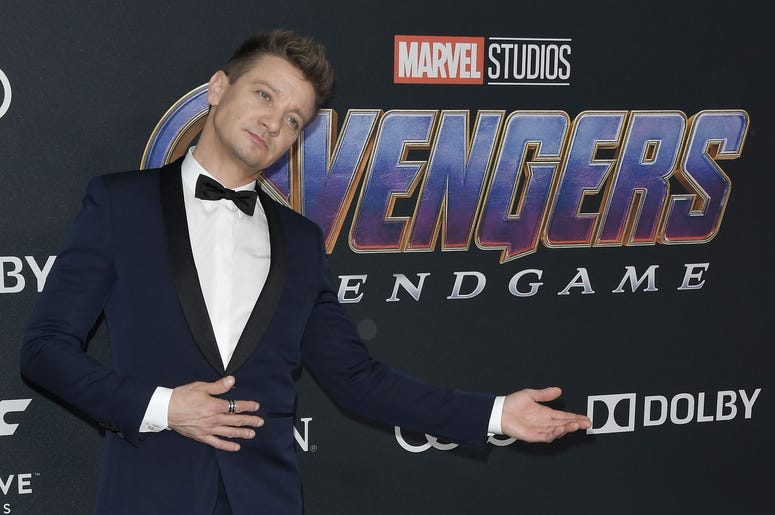 "Jeremy Renner arrives at Marvel Studios' ""Avengers: Endgame"" World Premiere held at the Los Angeles Convention Center in Los Angeles, CA on Monday, April 22, 2019. (Photo By Sthanlee B. Mirador/Sipa USA)"