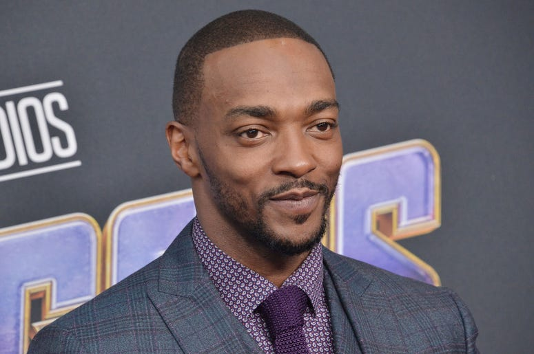 "Anthony Mackie arrives at Marvel Studios' ""Avengers: Endgame"" World Premiere held at the Los Angeles Convention Center in Los Angeles, CA on Monday, April 22, 2019. (Photo By Sthanlee B. Mirador/Sipa USA)"