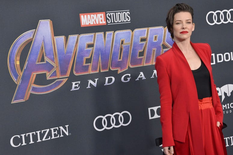 "Evangeline Lilly arrives at Marvel Studios' ""Avengers: Endgame"" World Premiere held at the Los Angeles Convention Center in Los Angeles, CA on Monday, April 22, 2019. (Photo By Sthanlee B. Mirador/Sipa USA)"
