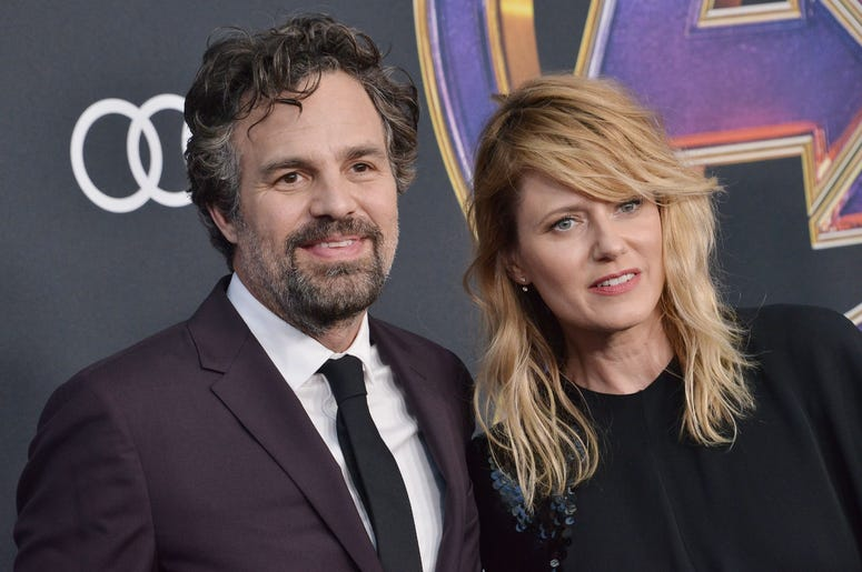 "(L-R) Mark Ruffalo and Sunrise Coigney at Marvel Studios' ""Avengers: Endgame"" World Premiere held at the Los Angeles Convention Center in Los Angeles, CA on Monday, April 22, 2019. (Photo By Sthanlee B. Mirador/Sipa USA)"