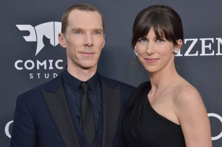 "(L-R) Benedict Cumberbatch and Sophie Hunter at Marvel Studios' ""Avengers: Endgame"" World Premiere held at the Los Angeles Convention Center in Los Angeles, CA on Monday, April 22, 2019. (Photo By Sthanlee B. Mirador/Sipa USA)"