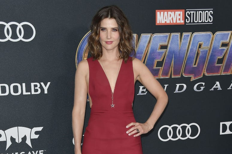 "Cobie Smulders arrives at Marvel Studios' ""Avengers: Endgame"" World Premiere held at the Los Angeles Convention Center in Los Angeles, CA on Monday, April 22, 2019. (Photo By Sthanlee B. Mirador/Sipa USA)"