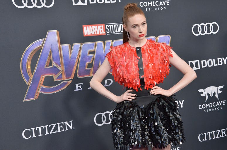 "Karen Gillan arrives at Marvel Studios' ""Avengers: Endgame"" World Premiere held at the Los Angeles Convention Center in Los Angeles, CA on Monday, April 22, 2019. (Photo By Sthanlee B. Mirador/Sipa USA)"