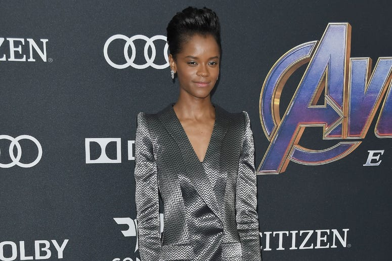 "Letitia Wright arrives at Marvel Studios' ""Avengers: Endgame"" World Premiere held at the Los Angeles Convention Center in Los Angeles, CA on Monday, April 22, 2019. (Photo By Sthanlee B. Mirador/Sipa USA)"