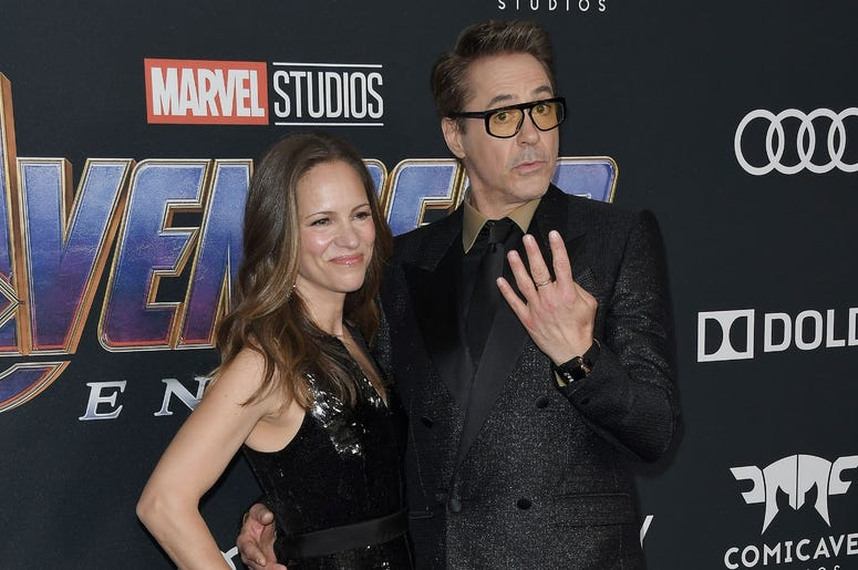 "(L-R) Susan Downey and Robert Downey Jr. at Marvel Studios' ""Avengers: Endgame"" World Premiere held at the Los Angeles Convention Center in Los Angeles, CA on Monday, April 22, 2019. (Photo By Sthanlee B. Mirador/Sipa USA)"