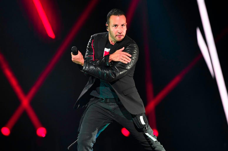 SUNRISE, FL- AUGUST 24: Howie Dorough performs at the Backstreet Boys DNA World Tour at BB&T Center in Sunrise, Florida on 8/24/2019. (Photo by Ron Elkman/USA TODAY NETWORK/Sipa USA)
