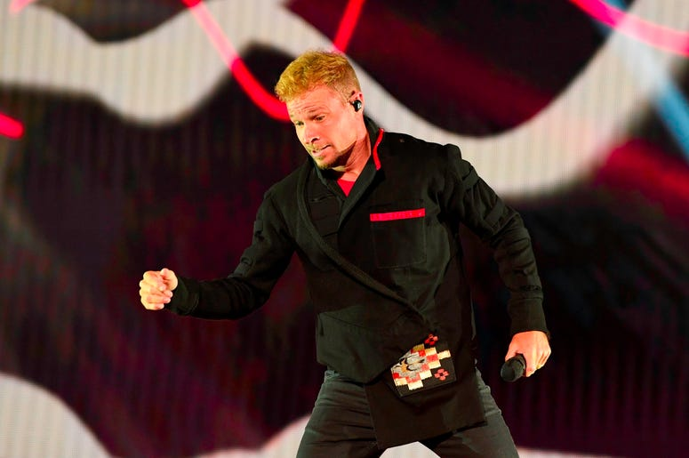 SUNRISE, FL- AUGUST 24: Brian Littrell performs at the Backstreet Boys DNA World Tour at BB&T Center in Sunrise, Florida on 8/24/2019. (Photo by Ron Elkman/USA TODAY NETWORK/Sipa USA)