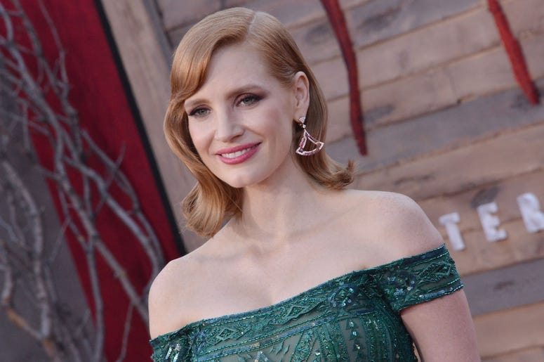 Jessica Chastain arrives at the Warner Bros. Pictures' IT CHAPTER TWO Premiere held at the Regency Village Theatre in Westwood, CA on Monday, August 26, 2019. (Photo By Sthanlee B. Mirador/Sipa USA)