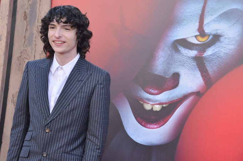 Finn Wolfhard arrives at the Warner Bros. Pictures' IT CHAPTER TWO Premiere held at the Regency Village Theatre in Westwood, CA on Monday, August 26, 2019. (Photo By Sthanlee B. Mirador/Sipa USA)