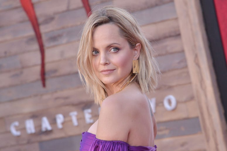 Mena Suvari arrives at the Warner Bros. Pictures' IT CHAPTER TWO Premiere held at the Regency Village Theatre in Westwood, CA on Monday, August 26, 2019. (Photo By Sthanlee B. Mirador/Sipa USA)