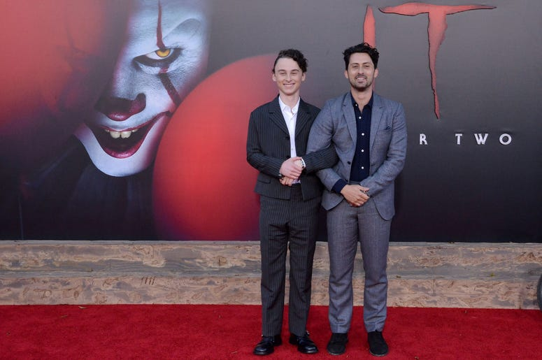 (L-R) Wyatt Oleff and Andy Bean at the Warner Bros. Pictures' IT CHAPTER TWO Premiere held at the Regency Village Theatre in Westwood, CA on Monday, August 26, 2019. (Photo By Sthanlee B. Mirador/Sipa USA)