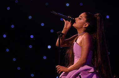 NEW YORK, NY - DECEMBER 06: Ariana Grande preforms at Billboard Women In Music 2018 on December 6, 2018 in New York City. (Photo by Mike Coppola/Getty Images for Billboard )