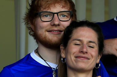 Sheeran and Seaborn at Ipswitch Town vs. Aston Villa