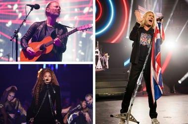 Radiohead, Def Leppard, Janet Jackson