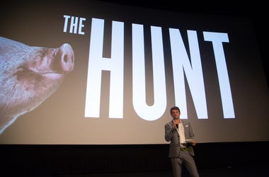 Producer Jason Blum introduces the film as Universal Pictures presents a special screening of THE HUNT at the ArcLight in Hollywood, CA on Monday, March 9, 2020.