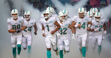 2020 Dolphins coming out of tunnel