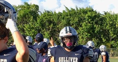 Gulliver Prep standout OL Eddy Cachon has turned heads with his play over the past year