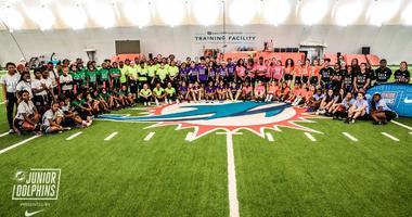 Miami Dolphins/Nike Girls Fag Football