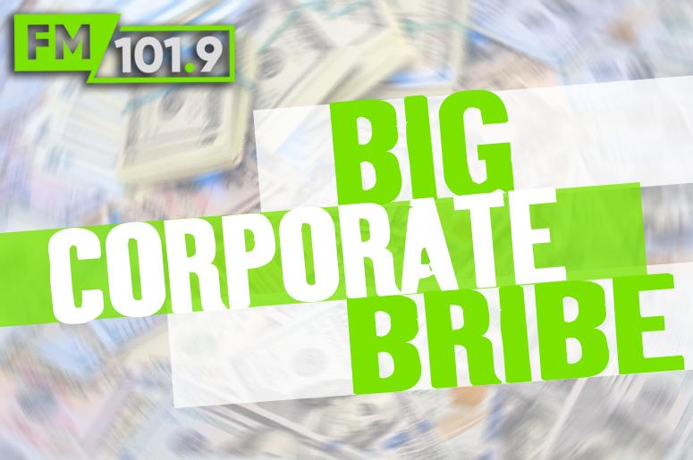 big corporate bribe 8a to 5p