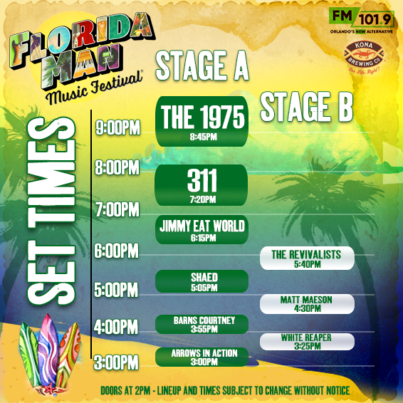 Florida Man Music Festival Set Times