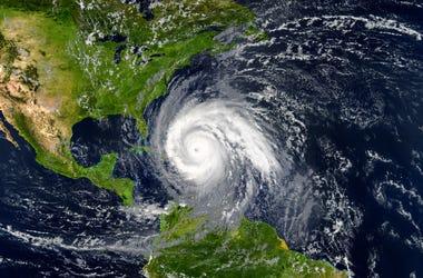 hurricane off the coast of florida