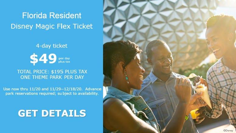 Florida Resident Disney Magic Flex Ticket