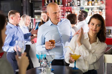 Flirting with waitress