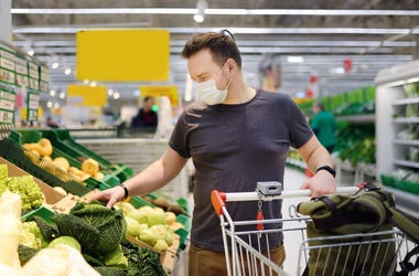 Man in grocery store