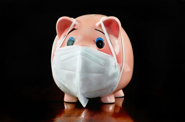 Pig with mask