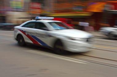 Moving Police Car