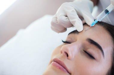 Woman receives botox