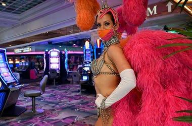Las Vegas Dancer With Mask