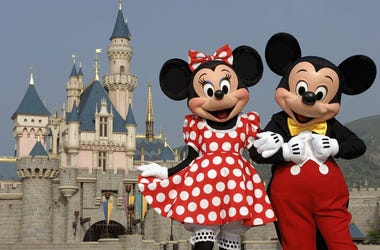 Mickey And Minnie Mouse At Disney