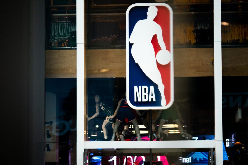 NBA Logo On Storefront