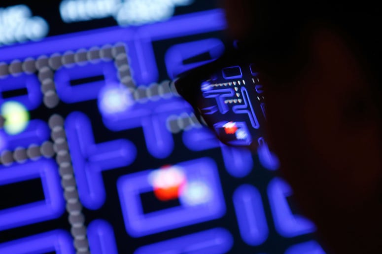 pac-man screen out of focus
