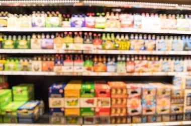 Shelf Of Blurred Beer