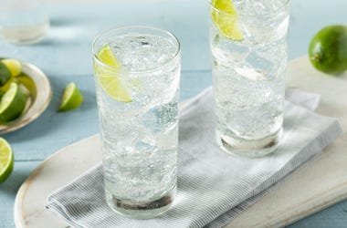 glasses of sparkling water