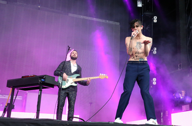 Matthew Healy from The 1975 performs