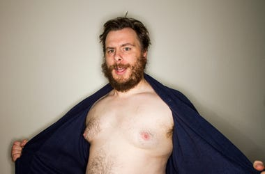 topless man flashing