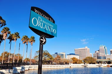 welcome to orlando sign lake eola