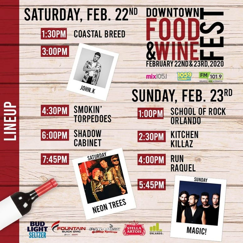 Downtown Food And Wine Fest Lineup